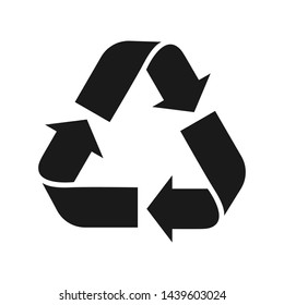 Recycle symbol. Environment protection. Flat vector icon, logotype.