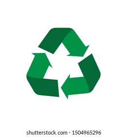 Recycle symbol flat icon, concept of world conservation.vector illustration