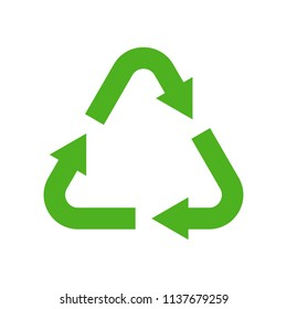 Recycle symbol, Flat icon save environmental concept