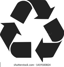 Recycle Symbol Green Arrows Logo Web Icon. Cycle, ecological.
