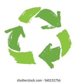 Recycle Symbol Green color Sketch icons
