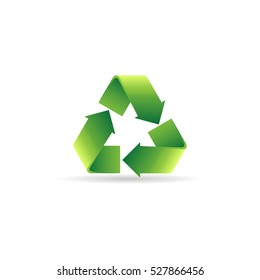 Recycle symbol icon in color. Environment recyclable go green