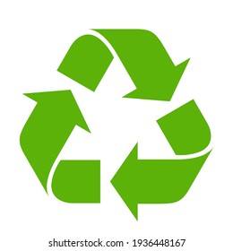 Recycle symbol on white background - Shutterstock ID 1936448167