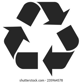 recycle symbol - vector illustration, recycle black color image, flat style, recycle web icon,  recycle concept for design, recycle symbol picture