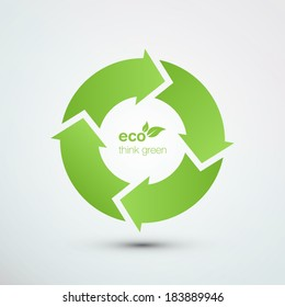 Recycle symbol vector illustration eps10