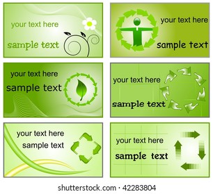 Recycle theme signs business cards templates stock vector royalty recycle theme signs business cards templates colourmoves