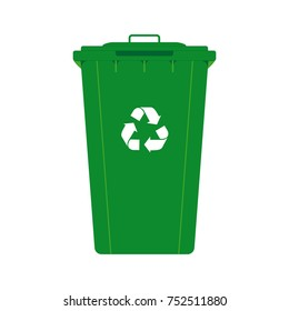 Recycle throw away container vector