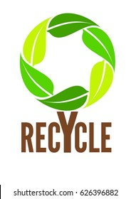 Recycle tree logo, vector