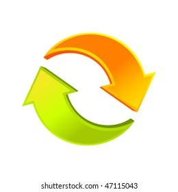 Recycle vector arrows