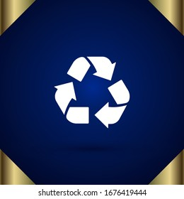 Recycle vector icon. Recycle icon page symbol for your design. EPS10.