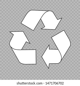 Recycle vector icon. Recycling symbol