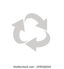 RECYCLE vector illustration .  Design element for an article about recycle