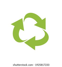 RECYCLE vector illustration .  Design elements for an article about recycle