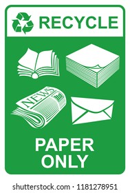 recycle vector sign - paper only