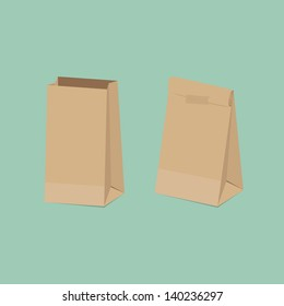 Recycled brown paper bag