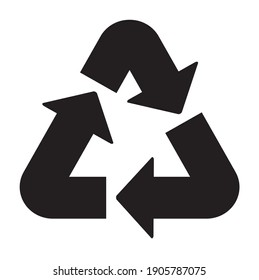 Recycled icon, pictogram, Packaging Symbol