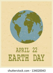 Recycled paper Earth Day poster.