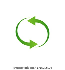 Recycling arrows icon isolated on white background. Vector illustration
