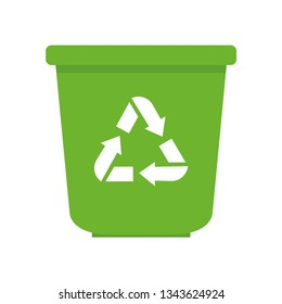 Recycling bin.Trash box. Recycling. Trash icon. White background. Vector illustration. EPS 10.