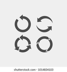 Recycling flat vector icon. Arrows flat vector icon
