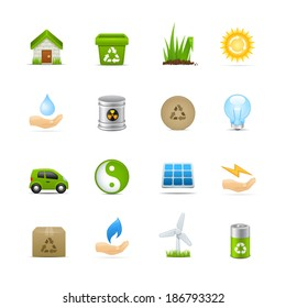 Recycling & Green Energy Icon Set
