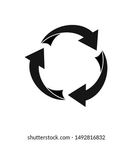 recycling icon, ecology green icons. The iconic Recycle Logo, leaves logo nature leaf vector icon