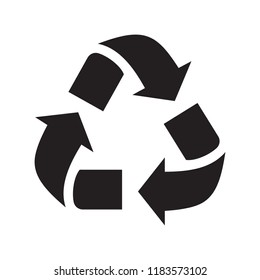 Recycling icon isolated on white