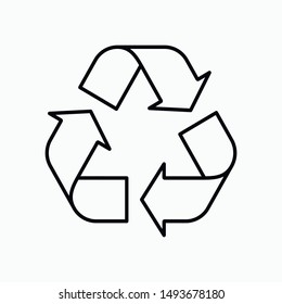 Recycling icon vector technology symbol