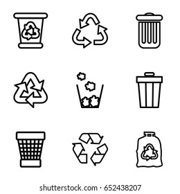 recycling outline