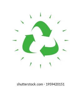 recycling junk removal logo design vector