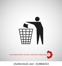 Recycling sign icon, vector best flat icon, EPS