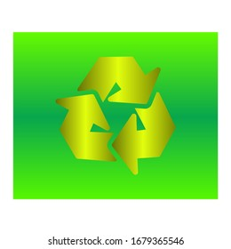 Recycling symbol 3d icon vector