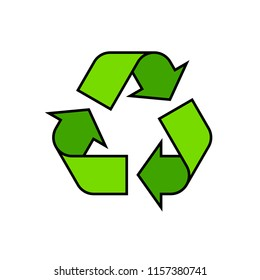 Recycling symbol icon. Clipart image isolated on white background