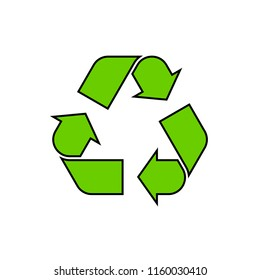 Recycling symbol icon. Recycle sign.  Environmental clipart isolated on white background