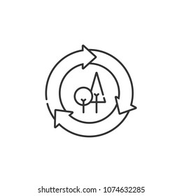 Recycling symbol icon. Simple element illustration. Recycling symbol symbol design from Ecology collection set. Can be used in web and mobile on white background