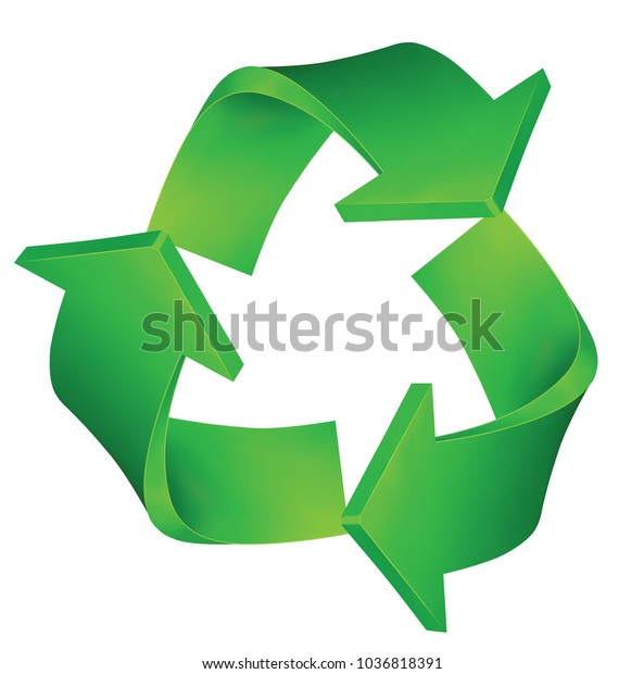 Recycling Symbol isolated on White Background. Vector illustration