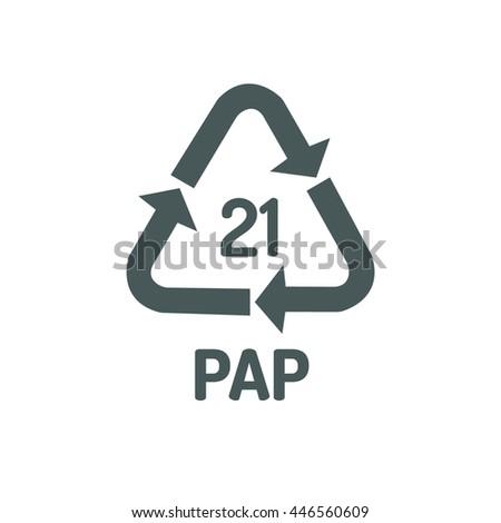 Recycling Symbols Plastic Stock Vector Royalty Free 446560609