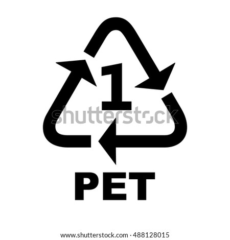 Recycling Symbols Plastic Pet Stock Vector Royalty Free 488128015
