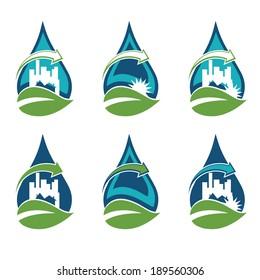 Recycling urban eco icon