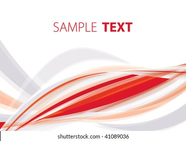 Red abstract background. Vector