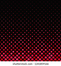 Red abstract geometric circle pattern background - vector design from small circles