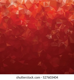 Red abstract gradient polygon background