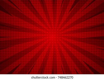 red abstract halftone background with retro concept