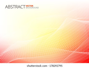 Red Abstract Lines Business Vector Background