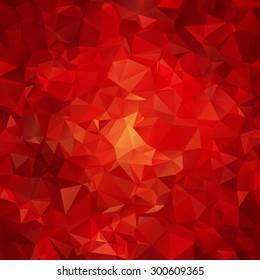 roter abstrakter Polygonmuster-Hintergrund