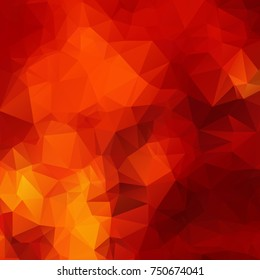 Red abstract polygon texture background
