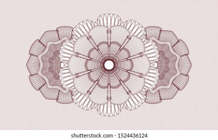 Red abstract rosette. Vector Illustration. Detailed.