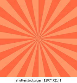 Red abstract sunburst or sunbeams empty background. Blank retro vintage backdrop designed in square size. The design graphic element is saved as a vector illustration in the EPS file format.