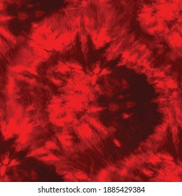 Red Abstract Swirl Artwork. Abstract Red Oil Texture. Splash Circle Art Paint.  Seamless Art. Red Brush Canvas. Gouache Dyed Canvas. Red Tie Dye Dark Art Pattern. Vector Grunge Abstract Art Background