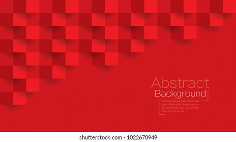 Red abstract texture. Vector background 3d paper art style can be used in cover design, book design, poster, cd cover, flyer, website backgrounds or advertising.